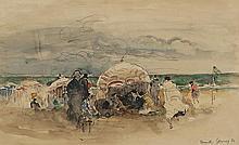 Paul Elie GERNEZ (1888-1948) Deauville Aquarelle, signé, situé et daté 1934 21,5 × 35,5 cm Cette oeuvre sera incluse dans le catalog...