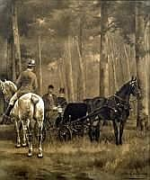 CHARLES FERDINAND DE CONDAMY (1855-1913) - Scène