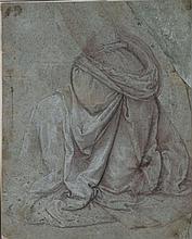 École ITALIENNE de la seconde partie du XVIe siècle Étude de draperie