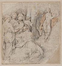 École ITALIENNE du XVIe siècle Apollon et les muses