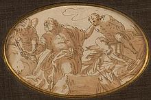 Attribué à Marcantonio BASSETTI (1588-1630) Sacrifice d'Isaac