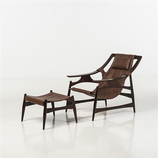 liceu de artes e o fcios fauteuil et repose pied palissand. Black Bedroom Furniture Sets. Home Design Ideas