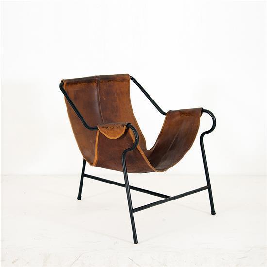 Lina bo bardi 1914 1992 trip chaise cuir et acier date de - Chaise imitation cuir ...