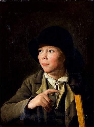 Portrait d un jeune dessinateur