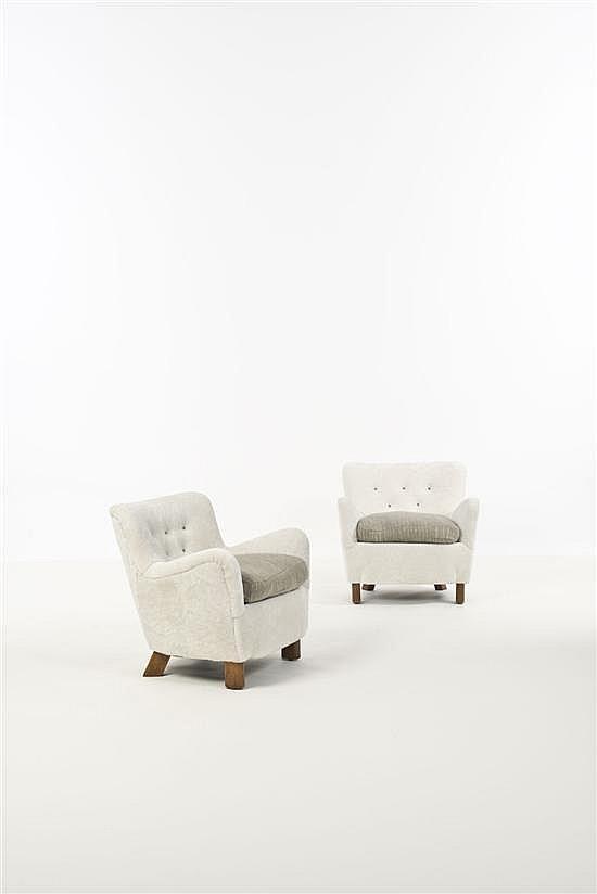 Fritz Hansen Paire de fauteuils