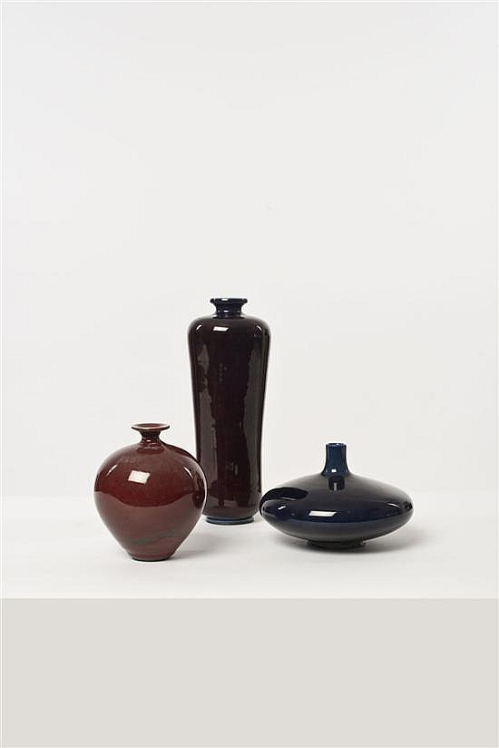 Berndt Friberg (1889-1981) Ensemble de trois vases