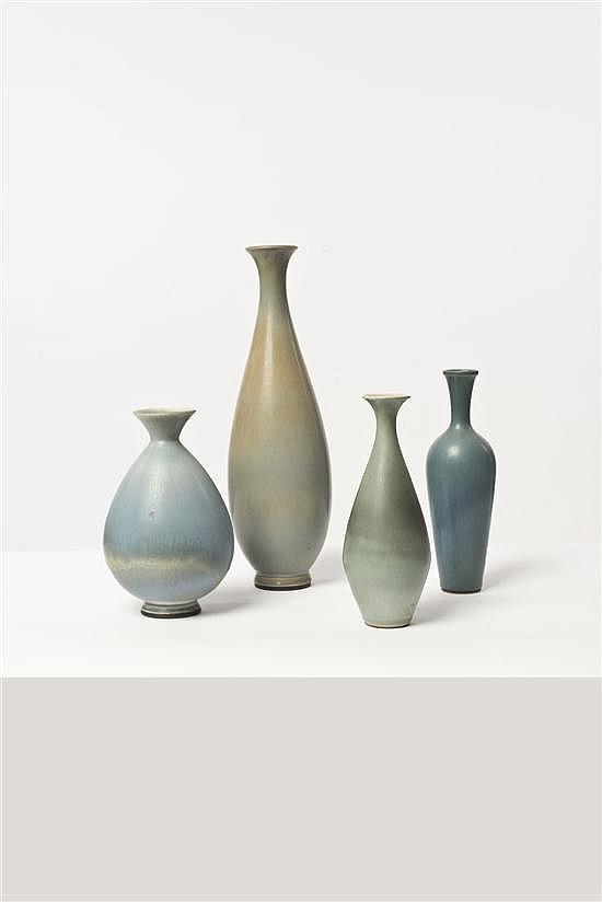Berndt Friberg (1889-1981) Ensemble de quatre vases