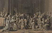 Attribué à Claudine BOUZONNET-STELLA (Lyon 1636-Paris 1697) La Confirmation, d'après Nicolas Poussin (Villiers 1594-Rome 1665) Plume..