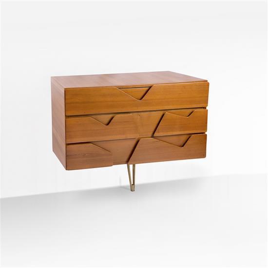 gio ponti 1891 1979 une commode orme et laiton edition das. Black Bedroom Furniture Sets. Home Design Ideas