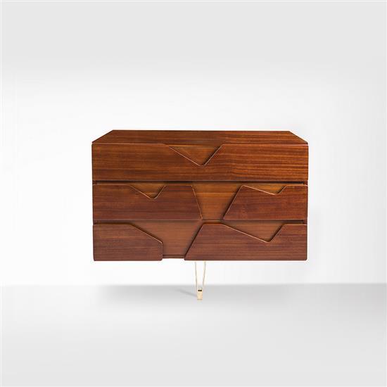 gio ponti 1891 1979 une commode acajou et laiton edition d. Black Bedroom Furniture Sets. Home Design Ideas