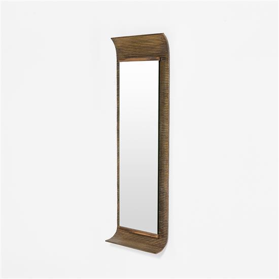 Ettore sottsass 1917 2007 miroir m tal miroir et laiton for Metal miroir