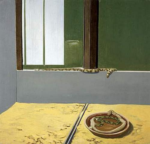 Gilles AILLAUD 1928-2005 - Serpents et assiette,