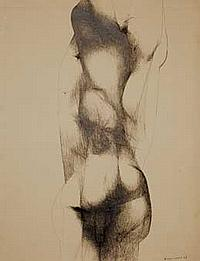 Servando CABRERA MORENO (1923-1981) Sans titre (Nu), 1967