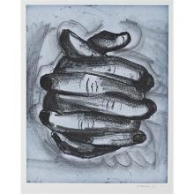 Bruce Nauman (né en 1941)Soft ground etching - bleu - 2006