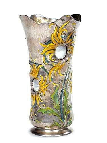 Vase Chrysanthèmes .