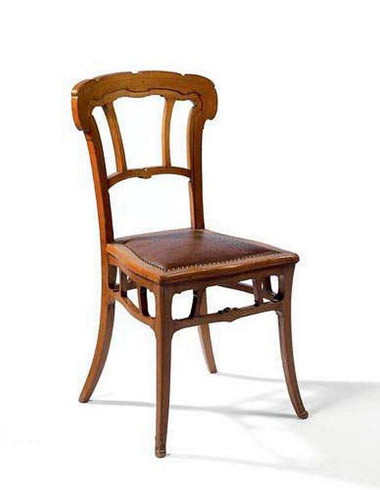 VICTOR HORTA, 1861-1947 - Intéressante chaise de