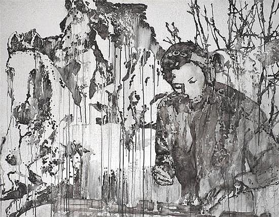 Victor ASH (né en 1968) Dj and horses, 2007