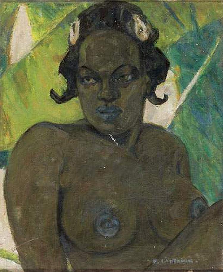 FERNAND LANTOINE (1876-1955) - INDIGENE EN BUSTE
