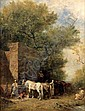 EUGENE FROMENTIN (1820-1876) - CHEVAUX ARABES A, Eugene Fromentin, Click for value
