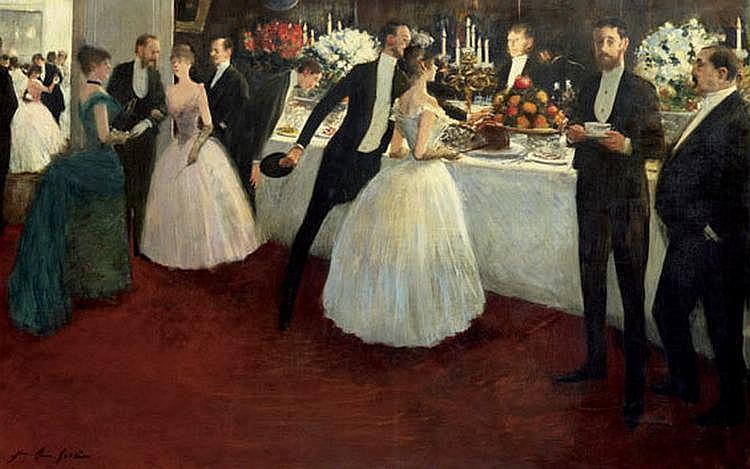 JEAN-LOUIS FORAIN (1852-1931) - LE BUFFET, 1884