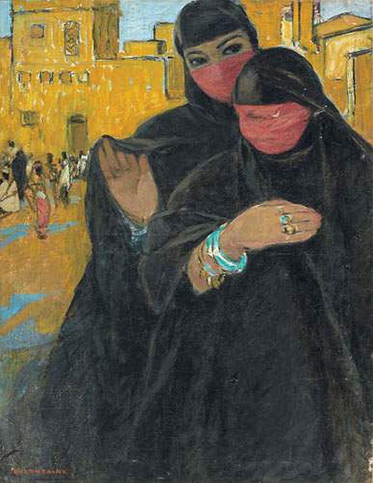 FERNAND LANTOINE (1876-C1955) - FEMMES JUIVES,