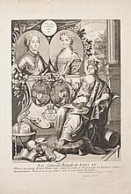 Anonyme XVIIIe s. La Famille Royale de Louis XV / Marie Leczinski a donné aux voeux de toute la France par un heureux accouchement, ...