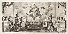 Abraham Bosse (1602-1676) Les Vœux du Roy et de la Reyne à la Vierge. 1638. Eau-forte. 410 x 200. Duplessis 1225. Très belle épreuve...