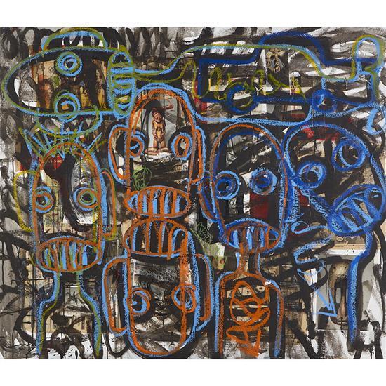 Aboudia (né en 1983, Côte d''Ivoire)Untitled, 2014