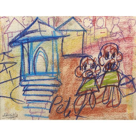Aboudia (né en 1983, Côte d''Ivoire)Paire de la série Street Kids, 2011