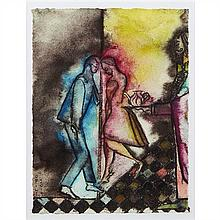 Chris Ofili (né en 1968, Royaume-Uni)Mali Memory (Tea Dance), 2014