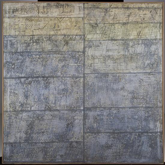 Georges Noël (1924-2010)Grand palimpseste, deux pages d''Azur, 1965