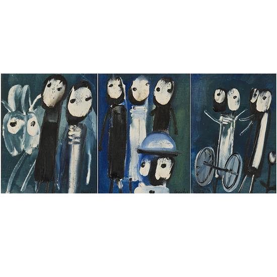 Yannis GAÏTIS (1923 - 1984) Sans titre, circa 1960