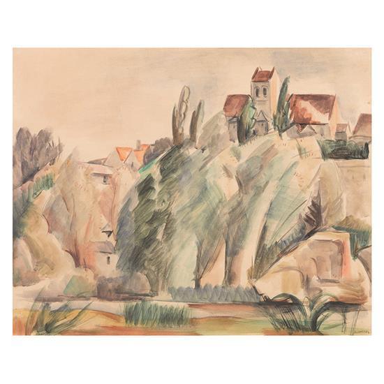 André Lhote (1885-1962)Vue d''un village
