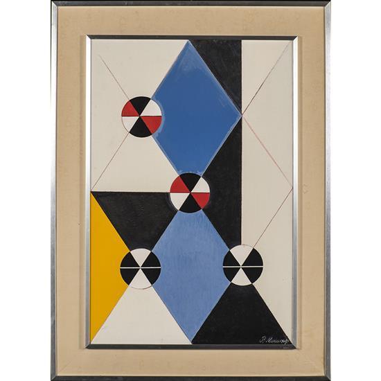 Pavel Mansouroff (1918-1983)Composition cosmique