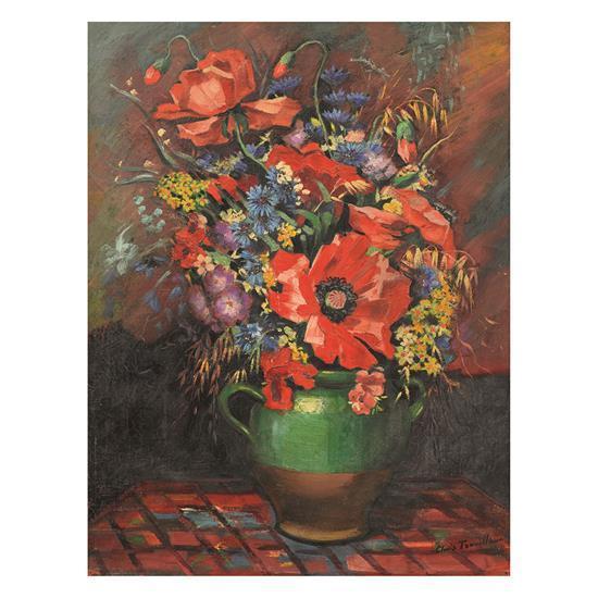 Clovis Trouille (1889-1975)Bouquet de fleurs