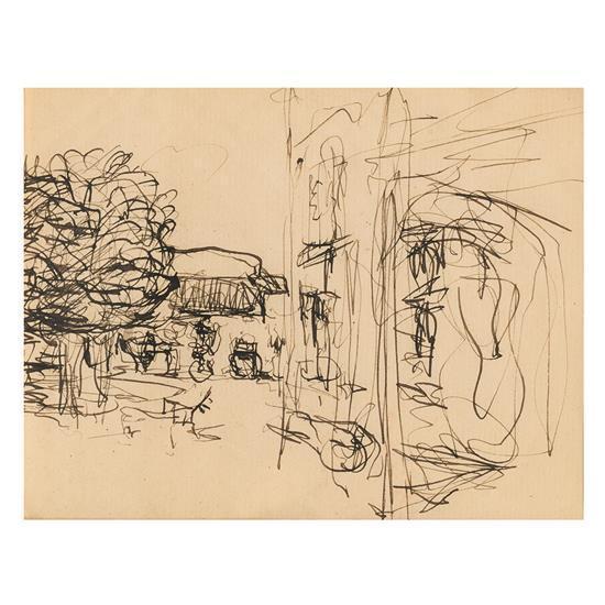 Edouard Vuillard (1868-1940)Vue de jardin