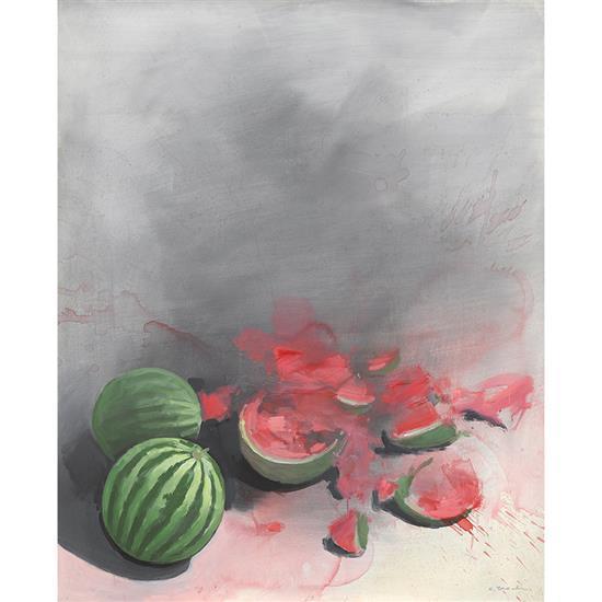 Costas TSOCLIS (né en 1930) Nature morte aux pastèques, circa 1987
