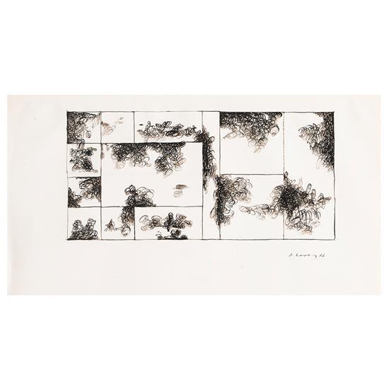 Dimitris CONDOS (1931- 1996) Formes d''écritures, 1966