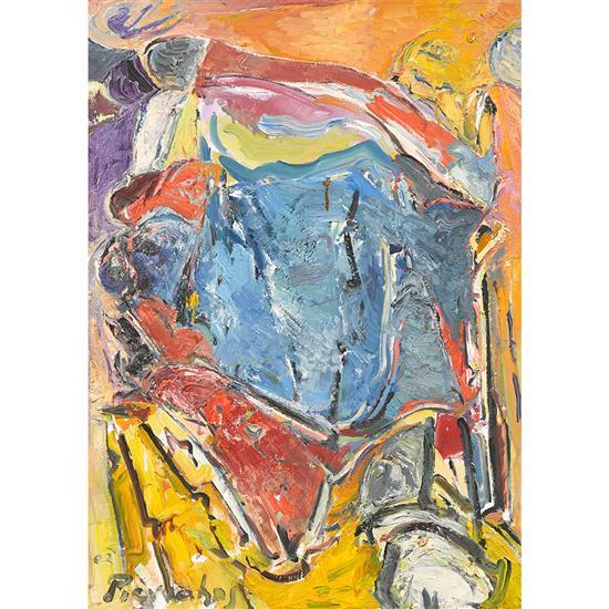Alkis PIERRAKOS né en 1920 Le Soir (Hommage à Kandinsky), 2002