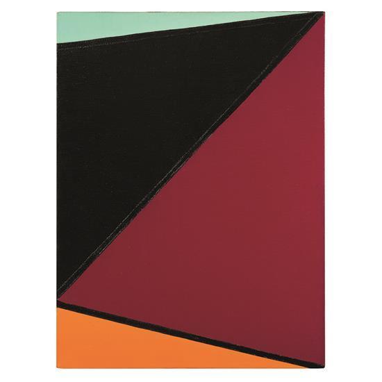 Olle Baertling (1911-1981) Garup, 1960 Huile sur toile Signée et datée au dos 62 x 46 cm Provenance : collection particuli...
