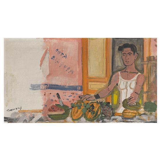 Yannis TSAROUCHIS (1910- 1989) Le Primeur, 1947-50