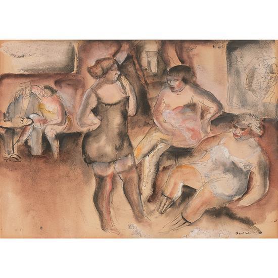 Jean Fautrier (1898-1964) Sans titre, circa 1925 Aquarelle et encre de chine sur papier Signé en bas à droite 22,5 x 30,5 cm Provena...