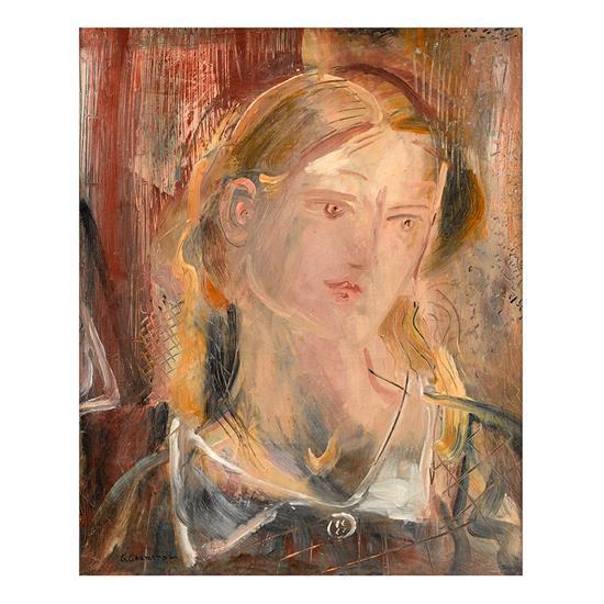 Giorgios GOUNAROPOULOS (1889- 1977) Portrait de jeune fille