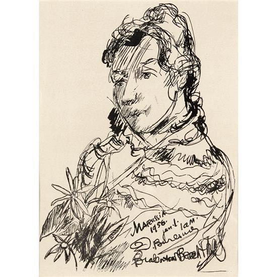 David Burljuk (1886/87-1917)Portrait de Marussia, 1956