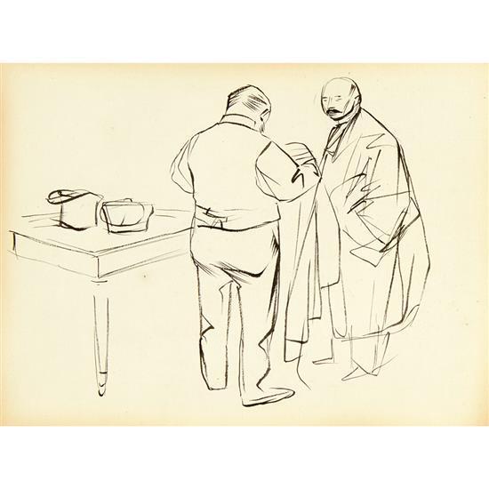 Jean-Louis Forain (1852-1931)Juges s''habillant (avant le procès)