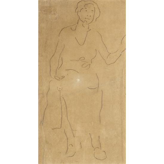 Ferdinand Hodler (1853-1918)Etude de femme