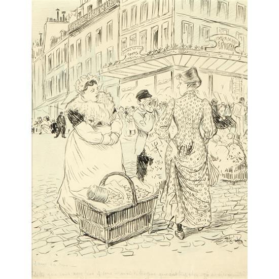 Théophile-Alexandre Steinlen (1859-1923)Scène de rue