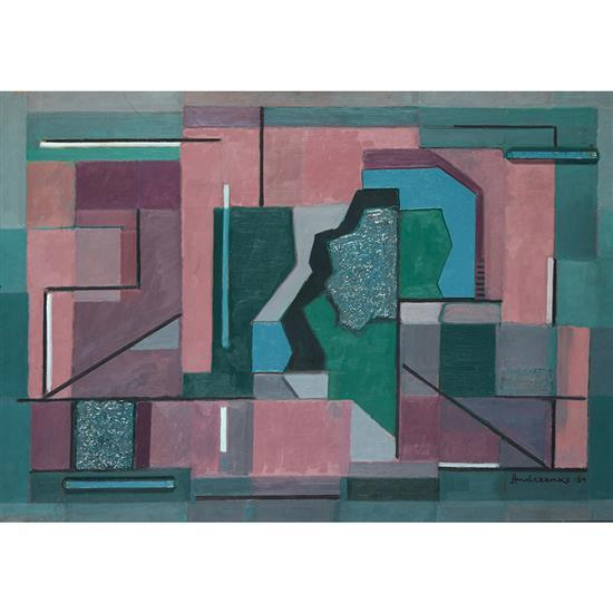 Michel Andreenko (1894-1982)Labyrinthe (Plans superposés), 1964