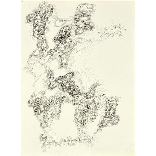 Camille Bryen (1907-1977)Paysage abstrait, 1973-1974