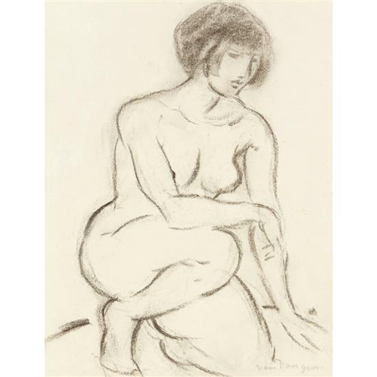 Kees Van Dongen (1877-1968)Nu féminin agenouillé